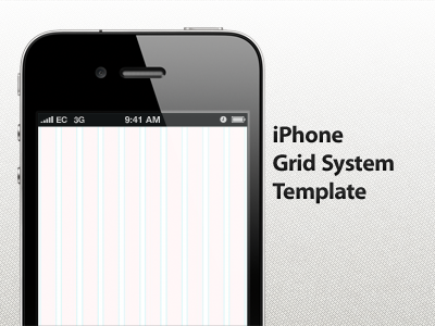 iphone grid system template free psd